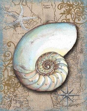 tesori nautiche III by Knold disponibile, donna-Stampa artistica su tela e carta, Carta, SMALL (11 x 14 Inches
