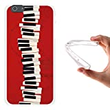 iPhone 6 Plus | 6S Plus Hülle, WoowCase Handyhülle Silikon für [ iPhone 6 Plus | 6S Plus ] Piano Tastatur Handytasche Handy Cover Case Schutzhülle Flexible TPU - Transparent