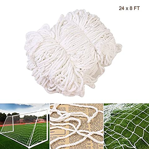 Football Goal Nets for Soccer Goal Post, Professional Junior Sports Training Outdoor Match 24 x 8 FT (Nets only, Post not included)