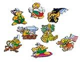 Kühlschrankmagnete Tiere lustig Magnete für Magnettafel Kinder stark 8er Set Comic mit Motiv Putzige Murmeltiere