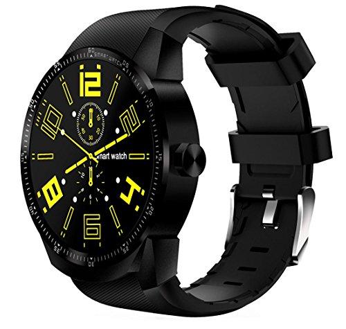 Smartwatch Herzfrequenzmonitore Smart Armband 1,3 Zoll 3G Android 4.1 MTK6572A 1,2 GHz Dual Core 4 GB ROM IP54 Wasserdicht Bluetooth 3.0 GPS K98H Ersatzbänder GPS Einheiten Pedometer , Schwarz