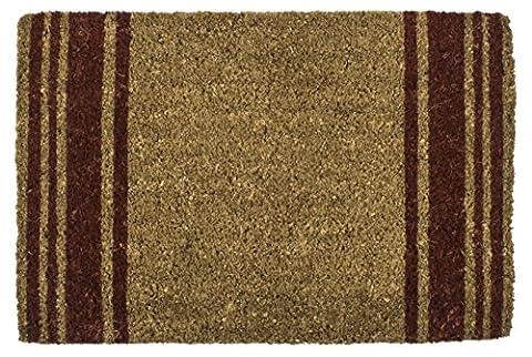 Entryways 2152S Ziegelrote Streifen Handgewebte Kokosfaser-Fussmatte, Coir, rötlichbraun, 40 x 60 x 2.5 cm