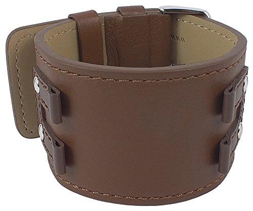 Bruno Banani Ersatzband Uhrenarmband Leder für XT Rectangular BR20922, Farbe:braun