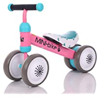LBLA Baby Balance Bikes Bicycle Children Walker 10 Month -24 Months Toys for 1 Year Old No Pedal Infant 4 Wheels Toddler…