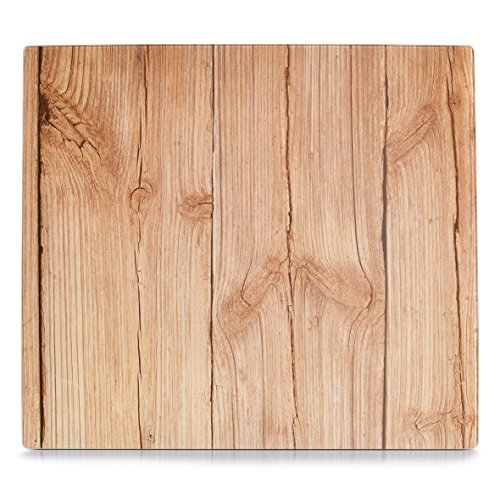 Zeller 26288 Herdblende-Abdeckplatte Wood, Glas