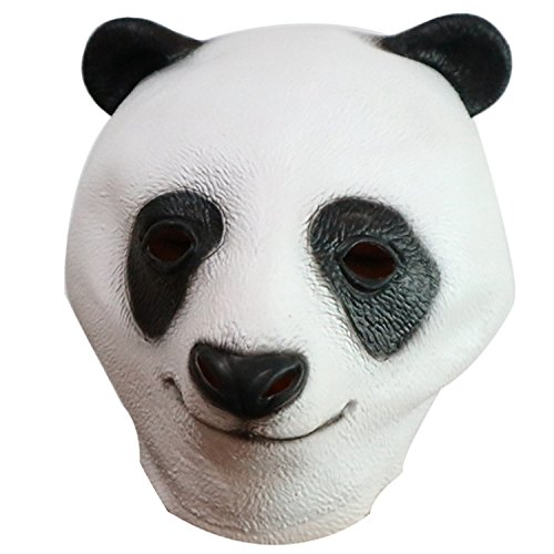 Panda Latex Head Mask Cute Halloween Kostüm Maske Cosplay Animal Full Face Maske Karneval für Erwachsene und Kinder von yunhigh