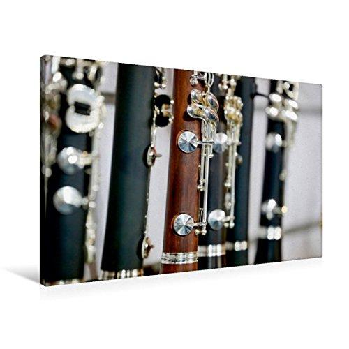 Calvendo Premium Textil-Leinwand 90 cm x 60 cm quer, Klarinette | Wandbild, Bild auf Keilrahmen, Fertigbild auf echter Leinwand, Leinwanddruck Kunst Kunst
