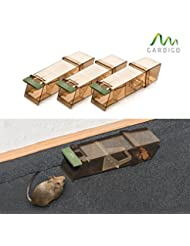 Gardigo Maus-Lebendfalle 3er Set, Mausefalle, Mäusefalle, Kastenfalle, 3 Fallen