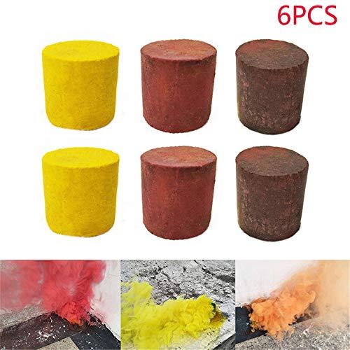 Holeider Raucherzeuger, Rauchpatronen Rauchbomben Farbige Rauchpellets Rauch Sender Bewirken Bombe Für die Fotografie 3pcs 6pcs (6PCS)