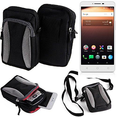 Marsupio, Custodia / spalla per Alcatel A3 XL, tasca nero-grigio