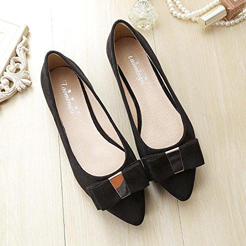 & Qq Rouge Chaussures de mariée, plat avec les chaussures de chaussures de mariage, louche Nœud côté en daim Chaussures 39