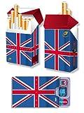 Länderset Großbritannien > UNION JACK < - 1x cardbox (Kartenhülle, Ausweishülle, Führerscheinhülle) UND 1x indo slipp (Hülle für Zigarettenschachteln) im SET