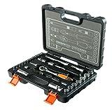 STACO 65047 - Juego de herramientas (llaves de vaso y carraca 1/4 y 3/8 pulgadas)