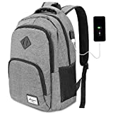 AUGUR Mochila para Ordenador Portátil Mochilas de Hombre con USB Puerto de Carga para Escolar Negocio Viajes Trabajo-35L