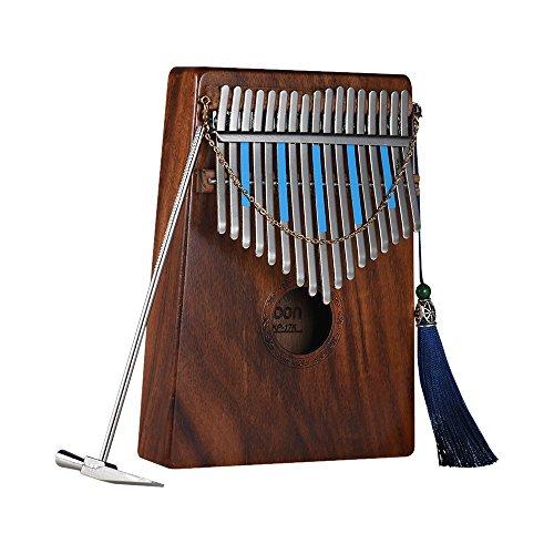 ammoon Kalimba 17-key Kalimba Daumenklavier Mbira SANZA hawaiianischem Koa massiv Holz mit Tragetasche Musik Buch Musical Maßstab Aufkleber Tuning Hammer Musical Geschenk akp-17K