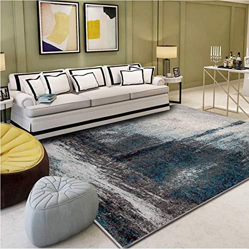 Aishankra Einfacher Teppich Tinte-Spritzender Kunst-Bereichs-Wolldecken Wohnzimmer-Kaffee-Tabellen-Schlafzimmer-Nachttisch-Computer-Sitz-Stuhl-Kissen,4,6'6''X9'8''/200X300CM (8 Ft Runde Bereich Teppich)