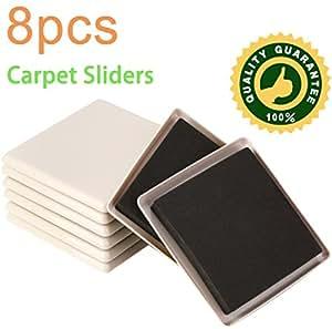 8 Pack 5 Inch Reusable Furniture Slider For Carpet Square