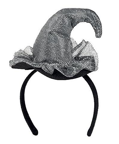 Mini Hexenhut in silber für Damen
