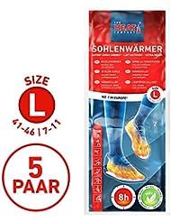 The HEAT company Sohlenwärmer 8 Stunden Wärmedauer Wärmesohle Fußwärmer Schuhheizung Fußheizung, LARGE: Grösse 41-46, 5 Paar.