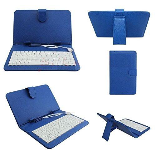 custodia con tastiera tablet 7 pollici REALMAX® Tastiera USB/Micro Supporto Custodia in Pelle PU per Tablet Android da 7Pollici A13Q88Regalo