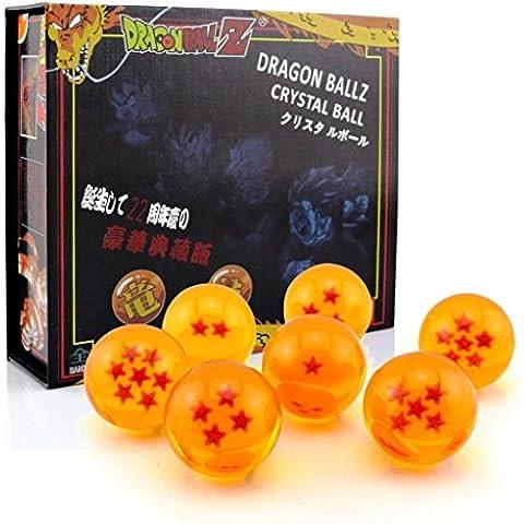 DragonBall Z - Set de 7 bolas de cristal de Dragon Ball Z en estuche de regalo