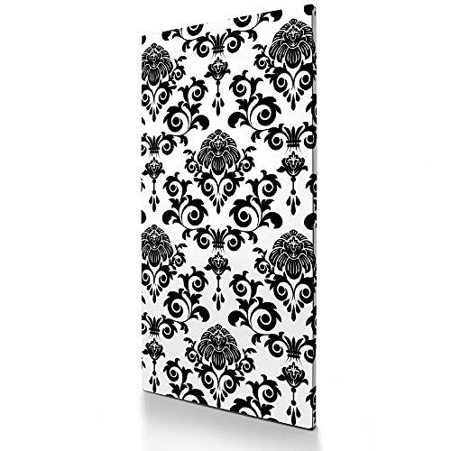 BANJADO Magnettafel schwarz, magnetische Pinnwand 78cm x 37cm, Memotafel aus Metall, Memoboard groß...