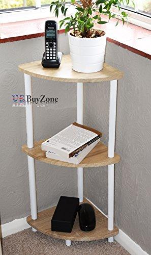 Outstanding 3 Tier Wooden Cupboard Corner Shelf Unit Side Table Organiser Storage Rack Caddy Download Free Architecture Designs Itiscsunscenecom