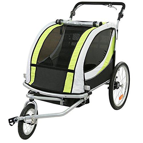 TIGGO World Kinderfahrradanhänger Fahrradanhänger Jogger 2in1 Anhänger Kinderanhänger JBT03N-D02 802-D02