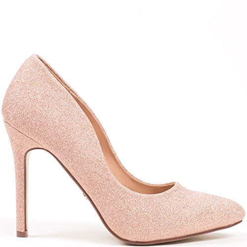 Ideal Shoes–Escarpins glitterate Zaira Rose