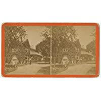 POSTER Country Residence Shows large house with extensive grounds Chestnut Hill Philadelphia front horse rider and two men