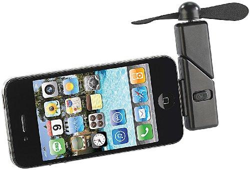 Callstel Handy Ventilator iPhone: Mini-Ventilator für iPhone & iPod Touch mit Dock-Connector, 30-polig (Ventilator mit Adapter) Ipod-touch-dock