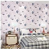 Tapeten Wandbild Hintergrundbild Fototapetemoderne Cartoon Blau Grün Grau Ballon Tapetenbahn Für Kinderzimmer Nicht Gesponnene Weltkarte Wandpapierrolle Für Babyzimmer Wände