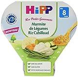 Hipp Biologique Les Petits Gourmets Marmite de Légumes Riz Cabillaud dès 8 mois - 7 assiettes de 200 g