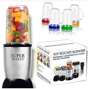SUPER BULLET Batidora Licuadora Multiusos Rocket Blender de 21 Piezas Muele, tritura, Pica,