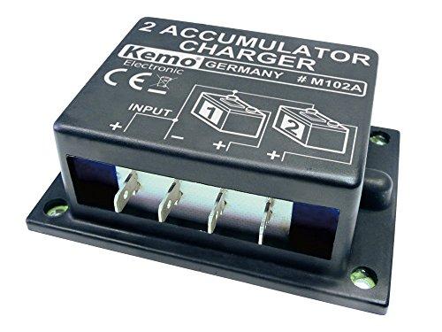 Kemo Electronic - Caricabatteria per doppia batteria piombo 6V 12V 24V 10-20A equalizzato