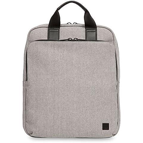 Knomo 56-402-GRY mochila - Mochila para portátiles y netbooks (Gris, Cuero, Tereftalato de polietileno (PET))