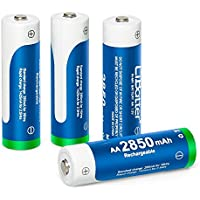 NeBatte AA 2850mAh Ni-MH Rechargeable Batteries 4 Pack with Storage Case