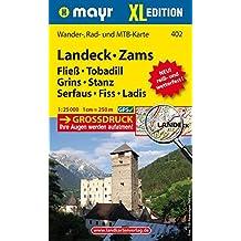 Landeck - Zams XL: Wander-, Rad- und Mountainbikekarte. GPS-genau. 1:25000 (Mayr Wanderkarten)