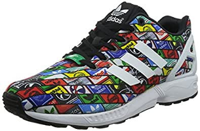 adidas Originals Men's Zx Flux White and Black Running Shoes - 9 UK