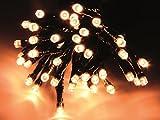 Led Lichterkette 180er warmweißes Licht grünes Kabel für aussen