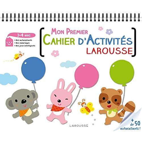 Mon premier cahier d'activités Larousse 3-4 ans
