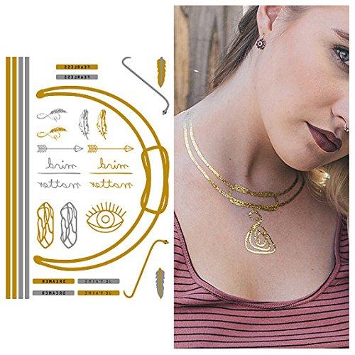 tat tify Oro Collana e amuleto TEMPOR & # x160; Re Tatuaggi Di Unge schliffen lato 4(set con 1lato)