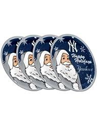 "New York Yankees MLB Holiday 10"" Plastic Plate - 4 Pack"
