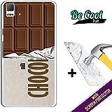 Becool® Fun- Funda Gel Flexible para Bq Aquaris E5 4G [ +1 Protector Cristal Vidrio Templado ]Carcasa TPU fabricada con la mejor Silicona, protege y se adapta a la perfección a tu Smartphone y con nuestro exclusivo diseño Tableta de chocolate