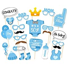 CHSYOO 25x Its a Boy Azul Chico Photo Props Photo Booth Props Photobooth Decoración para Baby