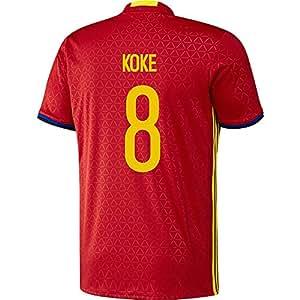 Koke #8 Spain Home Football Jersey UEFA Euro 2016 YOUTH
