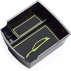 RUIYA Central Console Armlehne Box Angepasst für 2018 Hyundai Kona, Aufbewahrungsbox Console Organizer Insert Tray, Autozubehör (Grün)