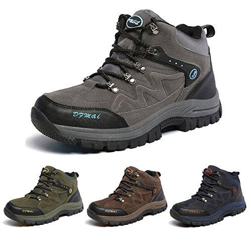 J&T Zapatos de Senderismo Para Hombre Resistente