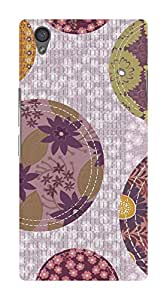 Koveru Designer Printed Protective Snap-On Durable Plastic Back Shell Case Cover for OnePlus X - Purple Fabric Pattern