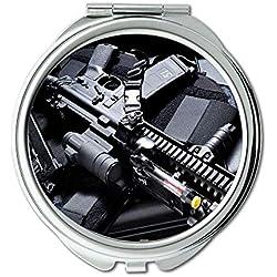 Miroir, miroir de maquillage, t-shirts pour hommes, Round Mirror, pistolet hd, miroir de poche, miroir portable